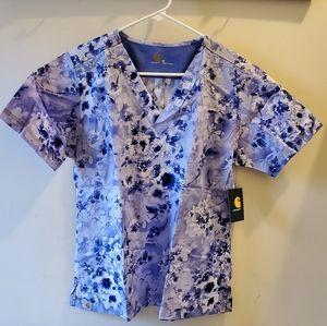Carhartt Women's Scrub Print V-neck Top